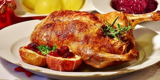 Duck dinner stock photo