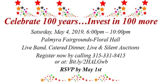 Come join us as we celebrate 100 years and look forward to the next 100 years!
