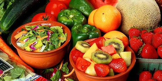 Fresh cut fruits and vegetables, on the United States Department of Agriculture