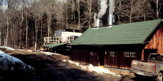 Sugar house at Cornell's Arnot Forest, Van Etten, NY. Maple