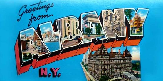 vintage postcard, Albany NY