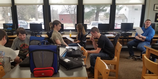 Whitesville, NY sophomores completing resumes.