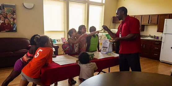 Nutrition Educator teaching youth