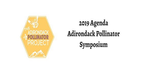 ADK Foundation Pollinator Symposium Logo with 2019 Agenda Written to the Side