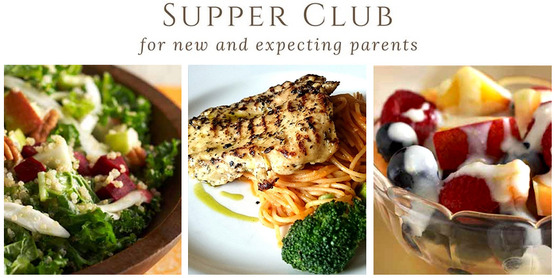 Supper Club for new & expecting parents, photos of healthy foods