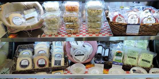 Cheese cooler at Taste NY store