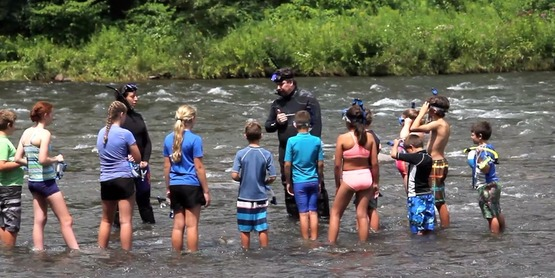Getting Ready for Stream Snorkeling in Esopus Creek