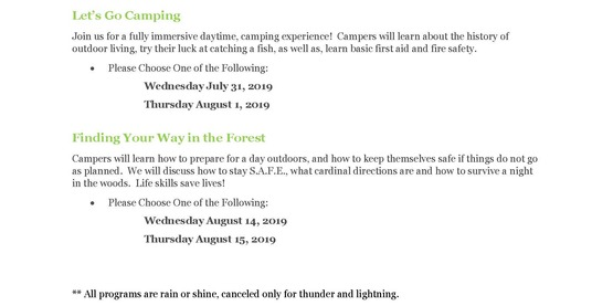 Cornell Cooperative Extension | 4-H Camp Wild - Summer Camp