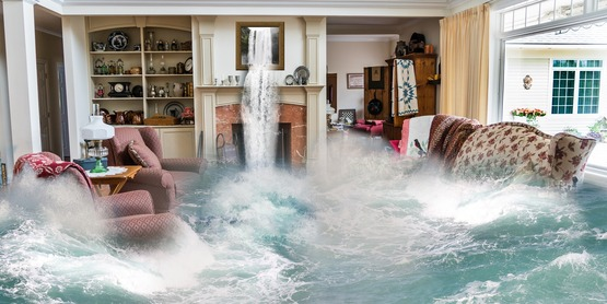 A house flooding