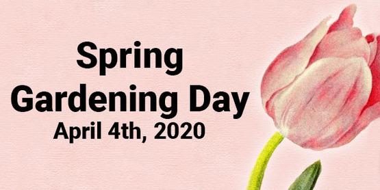 spring gardening day sign