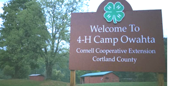 Camp Welcome Sign