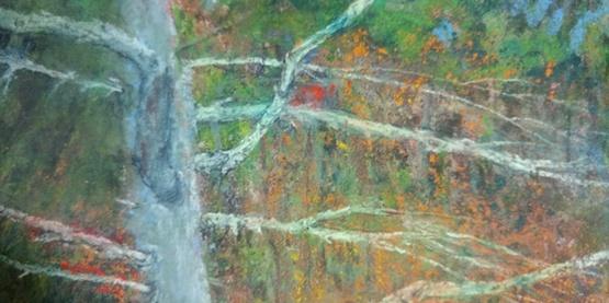 pastel tree by Stanley Maltzman