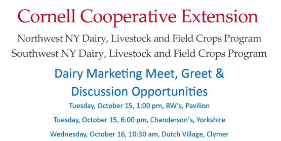 Dairy Marketing Meet, Greet & Discussion Opportunities