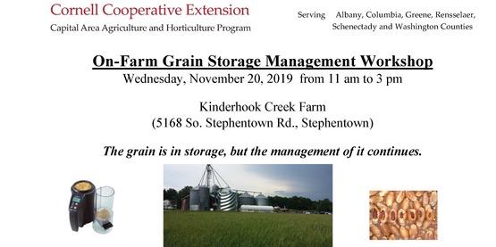 ON Farm Grain Storage Management Workshop