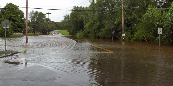 Flooding in Walden, NY after Hurricane Irene, 28 August 2011.