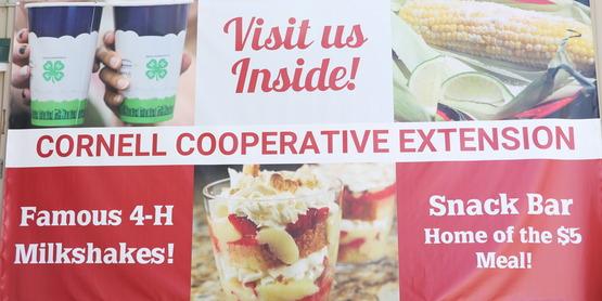 Snack Bar Signage at Fair