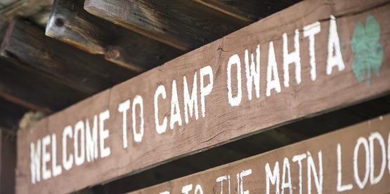 Camp Owahta Sign