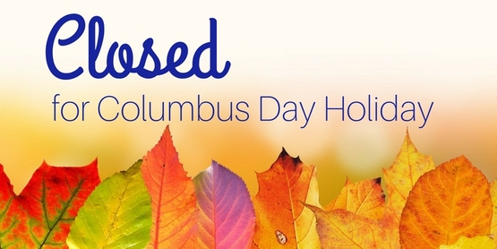 closed columbus day holiday