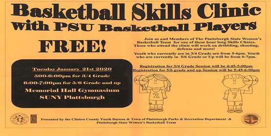 Basketball Skills Clinic With PSU Basektball Players- Free