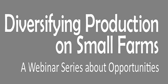 Diversifying Production on Small Farms A Webinar Series about Opportunities