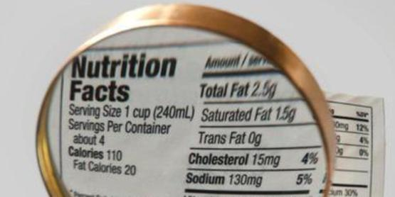 Reading Nutritional label
