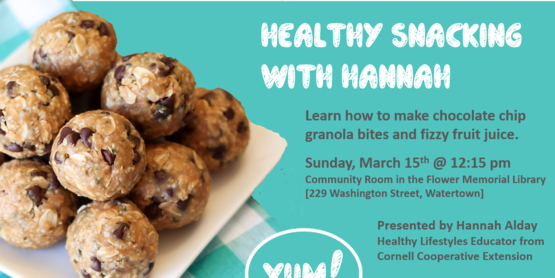 Healthy Snacking with Hannah Event Flyer