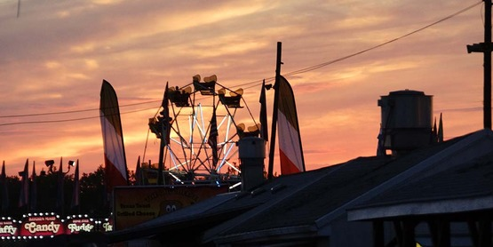 Sunset at fair
