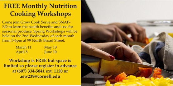 2020 GCS SNap-Ed Nutrition Cooking Class Flier