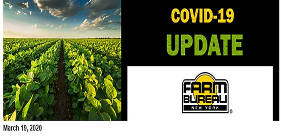 COVID-19 Update March 19th Farm Bureau New York