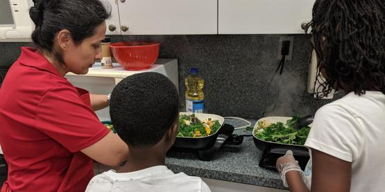 food prep with kids
