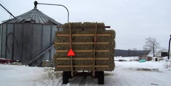 Slow Moving Hay Wagon