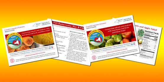 Farm to School recipe cards banner