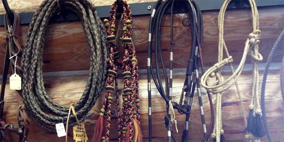 Horse bridles. Ninepipes Museum of Early Montana, Charlo, MT. Photo of item in museum shop.