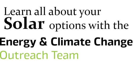 Learn all about your solar options with the Energy & Climate Change Outreach Team