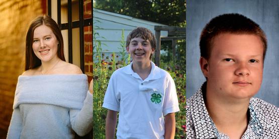 The 3 4-h scholarship winners
