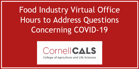 Food Industry Virtual Office Hours to Address Questions Concerning COVID-19: Cornell Cals Logo