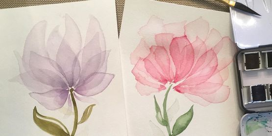 water color paintings of flowers