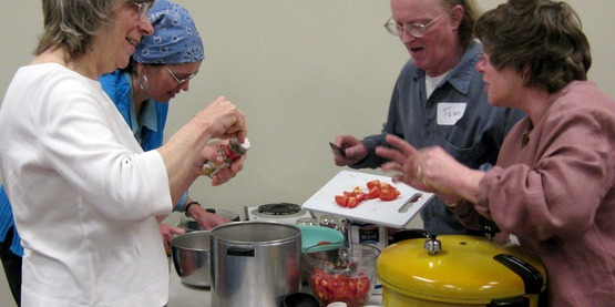 Participants in the Master Food Preserver course in 2008 at CCE-Tompkins.