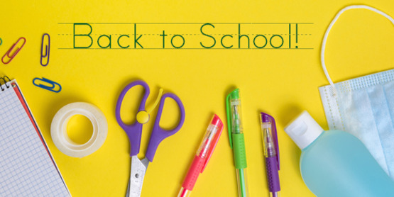 back to school image with supplies