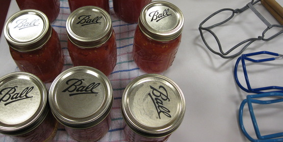 canning jars and canning tools
