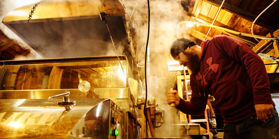 As cool nights transition to warm days, maple sap is boiled down at Arnot Teaching and Research Forest.
