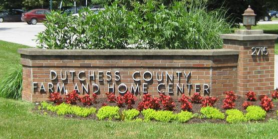 Entrance sign to Dutchess County Farm & Home Center