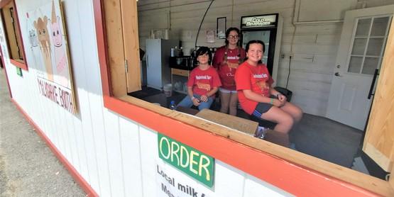 4-H Milkshake booth at fair