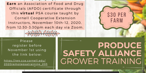 Produce Safety Alliance Training 2020