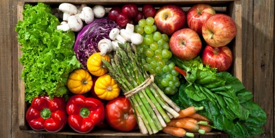 Basket of local produce