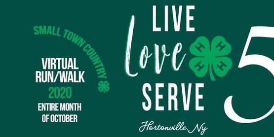 Live Love 5k. 4H 5K banner.