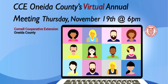 Virtual Annual Meeting Thursday, November 19th @ 6pm