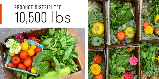 Nourish Tompkins - produce distributed = 10,000 lbs