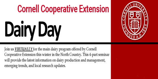 Cornell Cooperative Extension Dairy Day with Cornell Emblem