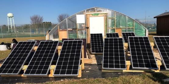 Solar hoop house greenport school